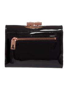 Ethel black small patent flap over purse