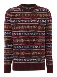 Howick Alpine Fairisle Crew Neck Christmas Jumper