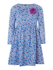 Joules Girls ditsy print dress