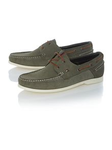 Chino Lace Up Casual Boat Shoes