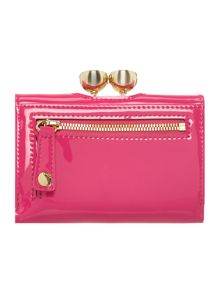 Shyla bright pink small patent flap over purse