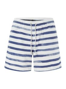 Painted Stripe Swimming Trunks