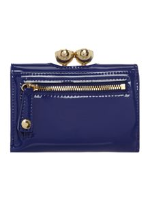 Shyla blue small patent flap over purse
