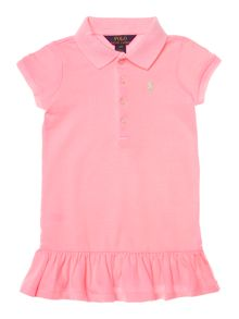 Girls Polo Dress With Pleat