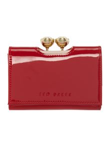 Shyla red small patent flap over purse