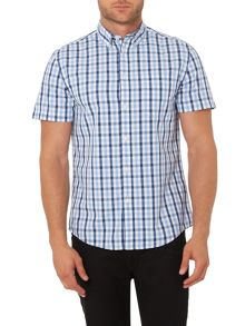 Criminal Giles Gingham Short Sleeve Shirt
