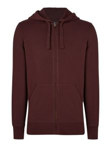 Criminal Darnholme Plain Zip-Through Hoody