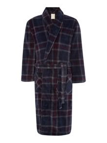 Linea Check Print Fleece Robe