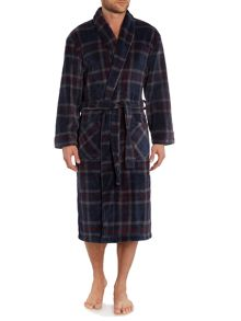 Check Print Fleece Robe