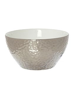 Metallic cereal bowl