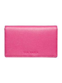 Froot pink flap over leather iPhone case
