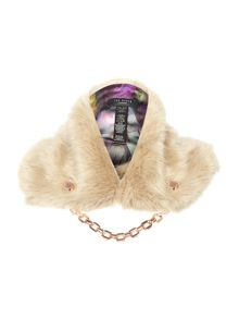 Calista faux fur textured collar
