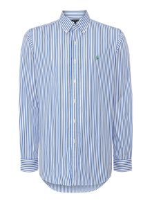 Polo Ralph Lauren Stripe Custom Fit Long Sleeve Shirt