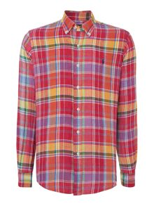 Polo Ralph Lauren Check Custom Fit Linen Shirt