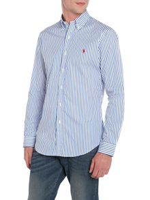 Slim Fit Stripe Long Sleeve Shirt
