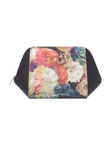 Jaquie black floral cosmetic bag