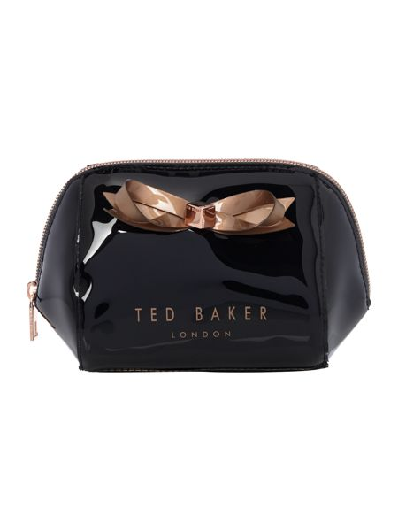 Ted Baker Damika black small bow bow cosmetic bag