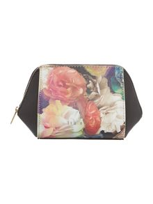 Jayme black floral small cosmetic bag