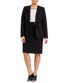 Marina Rinaldi Ombra pu trim long sleeve jacket