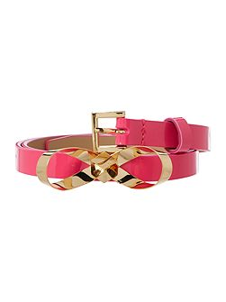 Ted Baker Bryano bright pink bow skinny belt