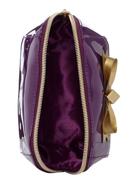 Ted Baker Damika purple small bow cosmetic bag