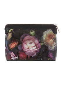 Jeanie multi-coloured floral small cosmetic bag