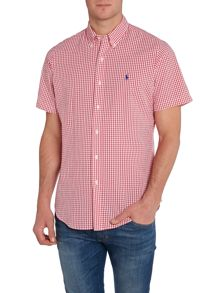 Gingham Custom Fit Short Sleeve Shirt
