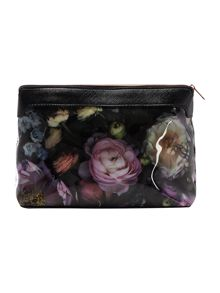 Hudson multi-coloured floral large cosmetic bag
