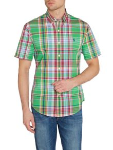 Polo Ralph Lauren Check Slim Fit Short Sleeve Shirt