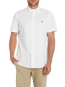 Plain Custom Fit Oxford Short Sleeve Shirt