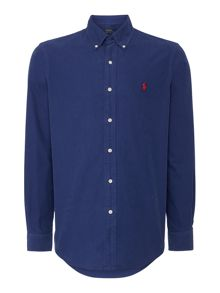 Plain Custom Fit Oxford Long Sleeve Shirt
