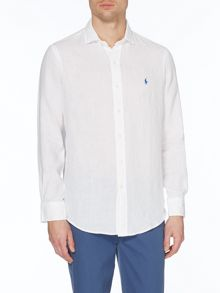 Polo Ralph Lauren Slim Fit Long Sleeve Linen Shirt