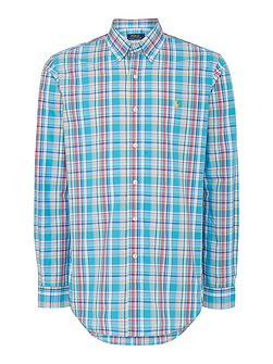 Multi Check Custom Fit Long Sleeve Shirt