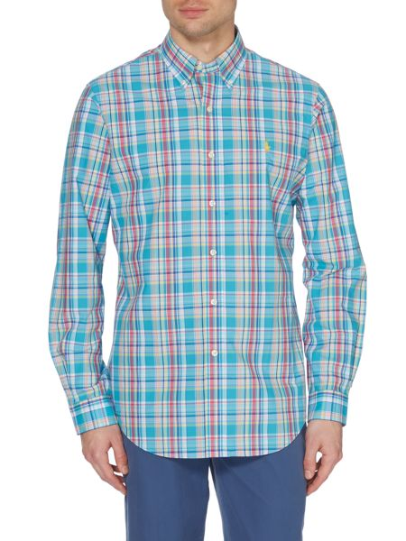 Polo Ralph Lauren Multi Check Custom Fit Long Sleeve Shirt