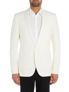 Hugo Arido Slim Fit Textured Shawl Dinner Jacket