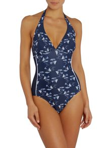 Dickins & Jones Boat Print Swimsuit