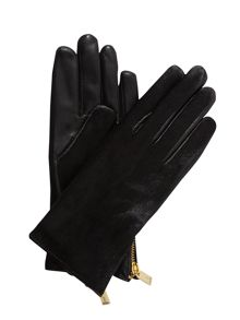 Poney pony zip detail gloves