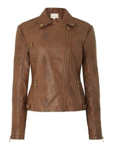 Dawn PU biker jacket