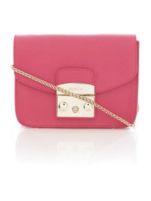 Metropolis pink mini flap over cross body bag