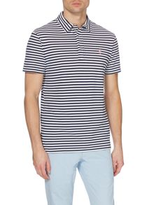 Stripe Custom Fit Featherweight Mesh Polo Shirt