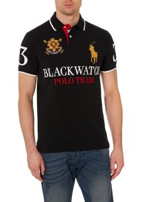 Black Watch Polo Plain Custom Fit Polo Shirt