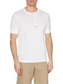 Plain Henley Button T-Shirt