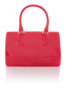 Candy pink large bowler bag