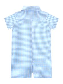 Baby boys gingham shortie