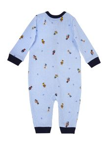 Baby Boys Teddy Print Coverall