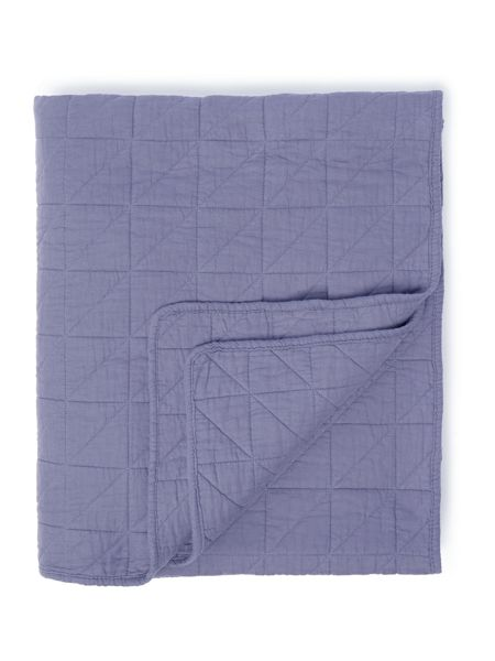 Gray & Willow Birger bedspread, blue