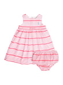 Baby Girls Sleeveless Striped Dress