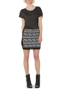 Label Lab Embroidered short skirt