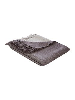 Ombre knit throw, charcoal