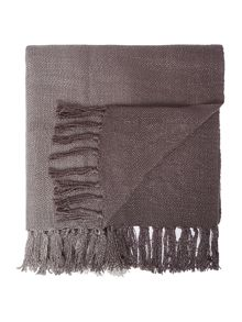 Linea Ombre knit throw, charcoal